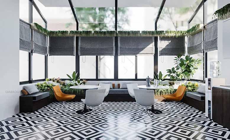 Thiết kế nội thất văn phòng chứng khoán cho khu vực nghỉ ngơi của nhân viên