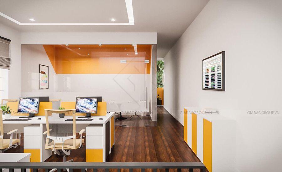 Hình ảnh thi công nội thất văn phòng tại Gia Bảo Group