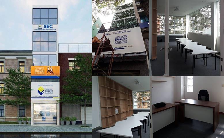 Giabaogroup thi công văn phòng anh ngữ SEC