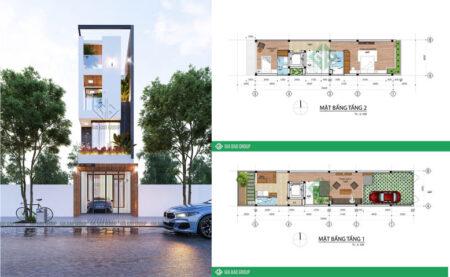 Nhà phố 4 tầng hiện đại đẹp, thiết kế độc đáo tại Phú Yên