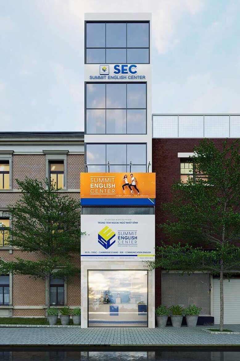 Thi công văn phòng anh ngữ SEC
