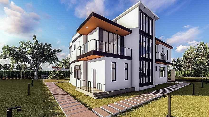 Thiết kế kiến trúc những mẫu nhà đẹp góp phần tô đẹp thêm cho cuộc sống