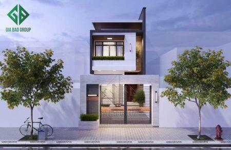Mẫu thiết kế nhà phố 2 tầng hiện đại 5x18m tại Cái Bè – NP15