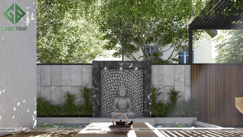Ảnh biệt thự sân vườn mái ngói hiện đại