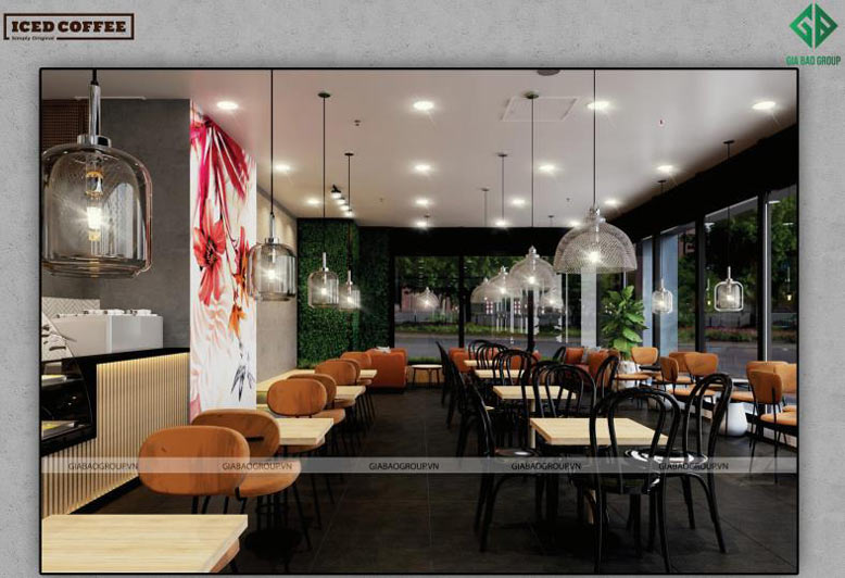 Độc đáo không gian thiết kế chuỗi Cafe Iced Coffee
