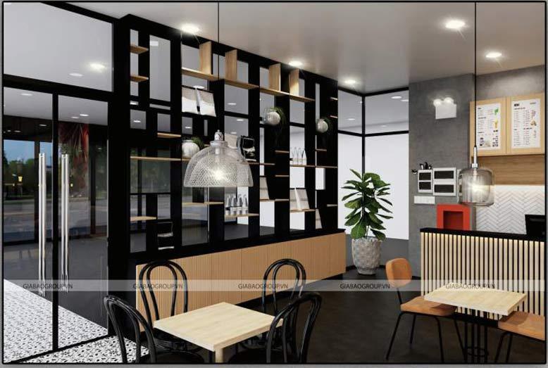 Tông màu thời thượng trong lối thiết kế chuỗi Cafe Iced Coffee