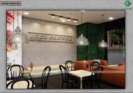 Thiết kế quán cafe đẹp – ICED COFFEE chi nhánh 3