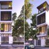 Mẫu thiết kế nhà phố hiện đại phong cách Nhật Bản, 4x16m