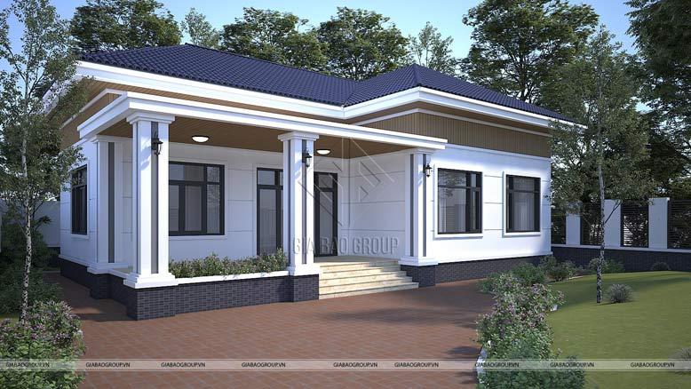 Tông màu phù hợp cho thiết kế biệt thự nhà vườn mái Thái