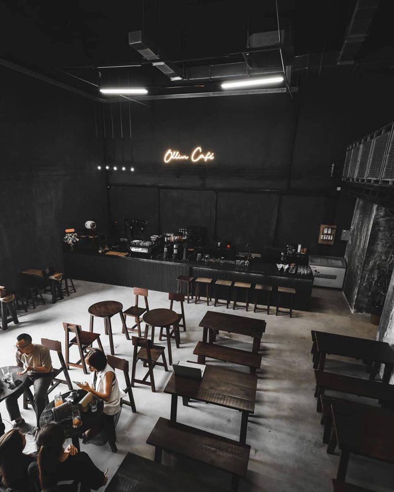 Thi công nội thất trọn gói quán cafe Ollin cực chất