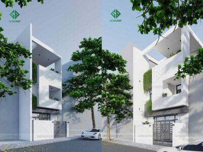 Thiết kế nhà phố 3 tầng theo kiến trúc hiện đại hình khối – NP18