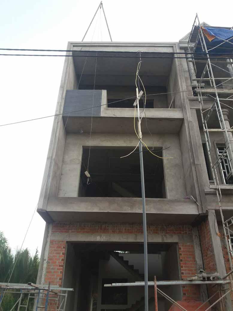 Thi công nhà phố 3 tầng hiện đại