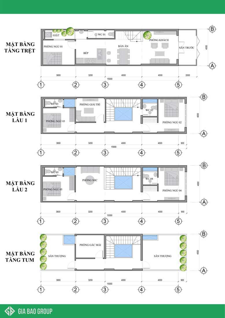 Các kết cấu kiến trúc của nhà phố 4x16 hiện đại phong cách nhật bản