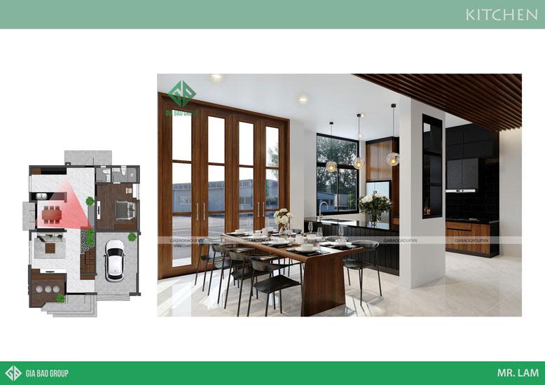 Muốn có nội thất bếp đẹp phải sắp xếp sao cho gọn gàng, ngăn nắp