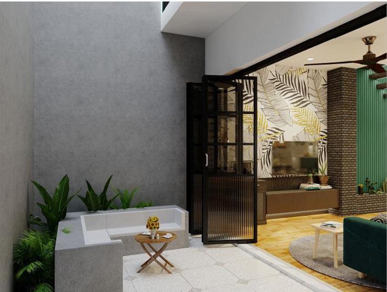Phối cảnh nội thất 3D với phong cách Tropical style