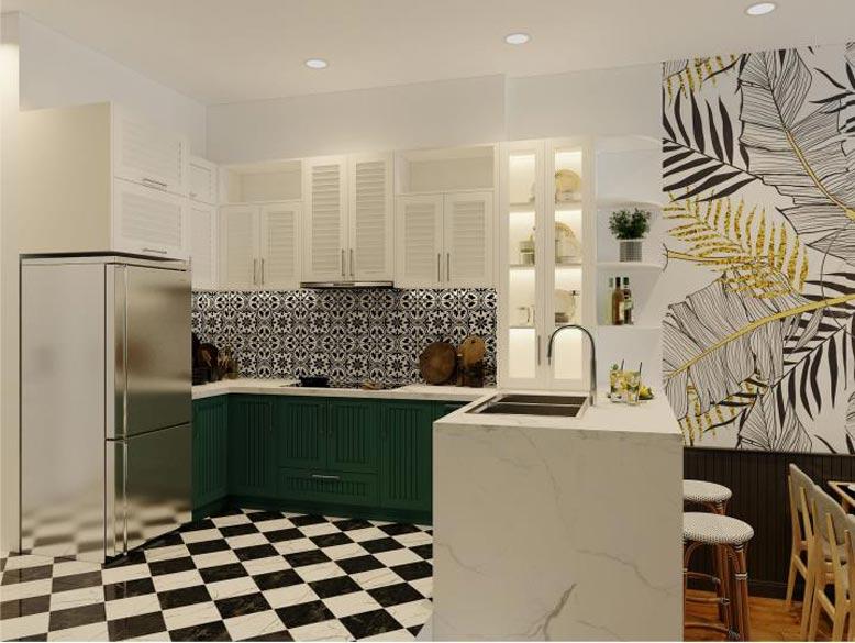 Phối cảnh thiết kế nội thất 3D cho phòng bếp