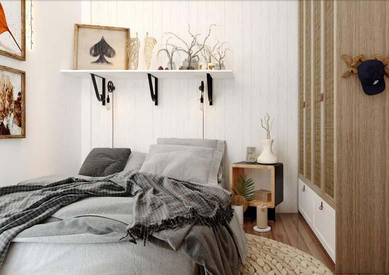 Phối cảnh thiết kế nội thất 3D cho phòng ngủ