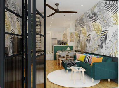 Mẫu thiết kế nội thất 3D phong cách nhiệt đới đẹp ngất ngây
