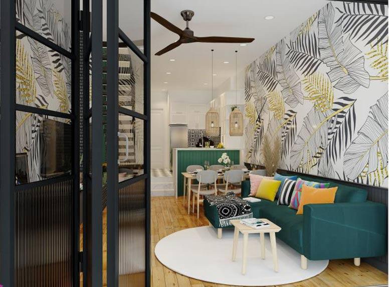 Phối cảnh nội thất 3D phong cách nhiệt đới
