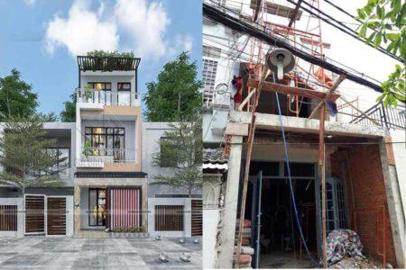 Công trình cải tạo nhà phố trọn gói- chị Bích, quận Gò Vấp