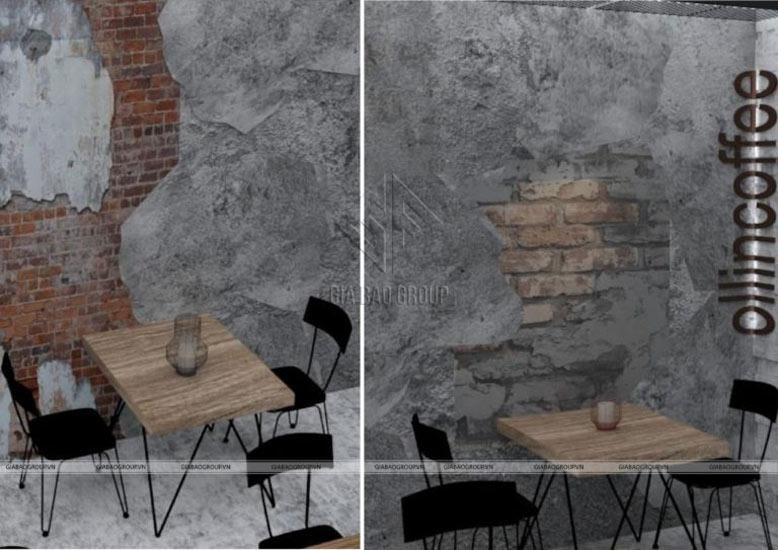 Mẫu thiết kế không gian bên trong quán cafe siêu chất