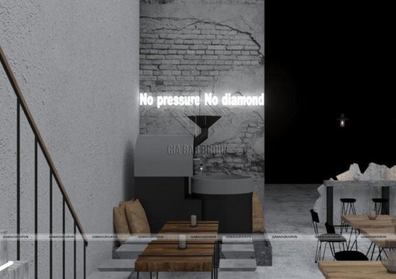 Thiết kế nội thất trang trí không gian quán cafe pha chút hiện đại siêu chất