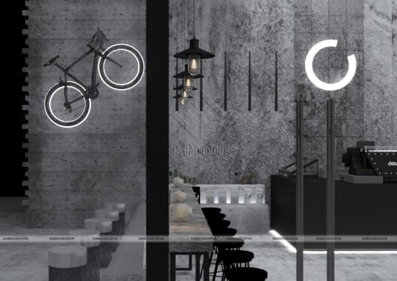 Phong cách thiết kế quán cafe mới lạ