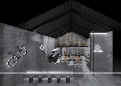 Mẫu thiết kế quán cafe đẹp, ấn tượng – Chuỗi café Ollin