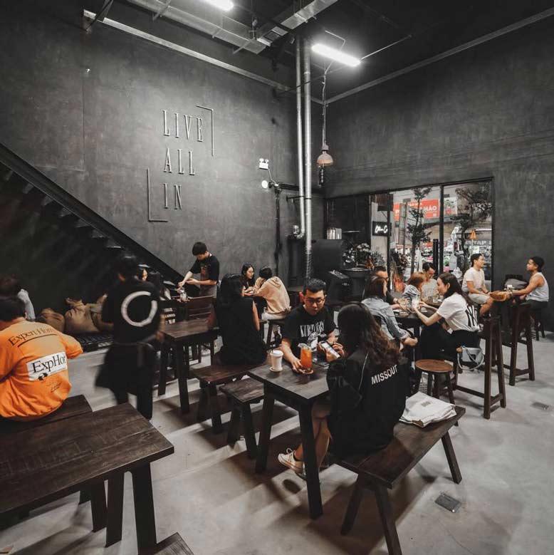 Công trình thiết kế và thi công nội thất quán cafe Ollin quận 2