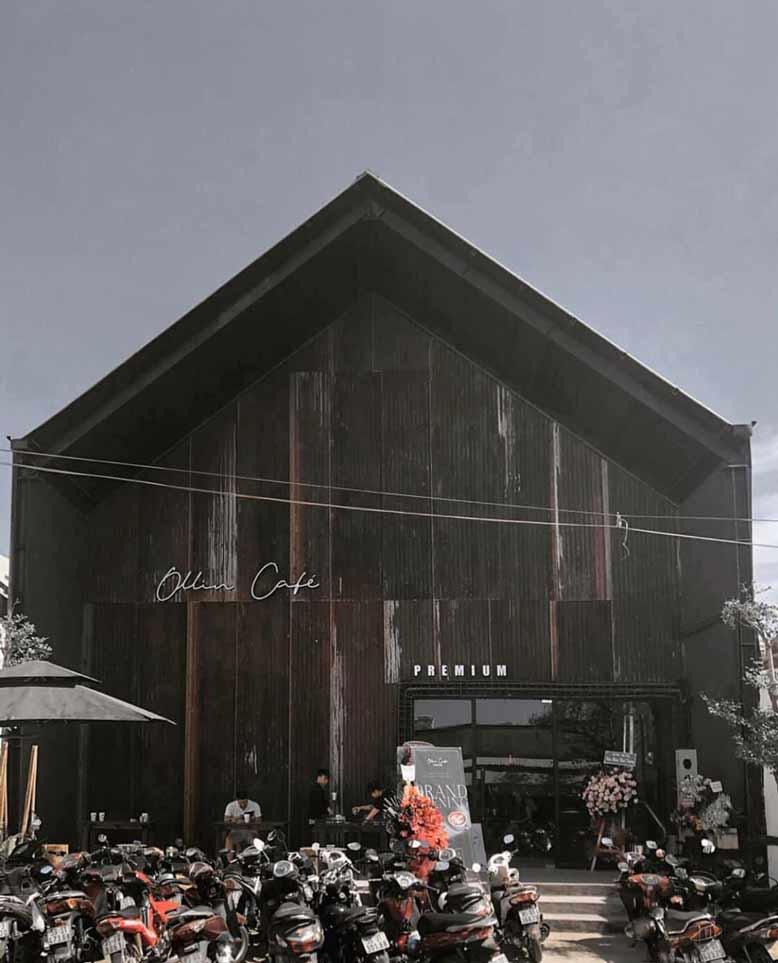 Toàn cảnh thiết kế và thi công nội thất trọn gói quán cafe Ollin