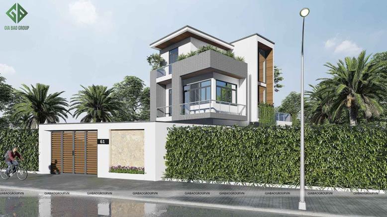 Biệt thự 3 tầng đẹp với phong cách hiện đại sang trọng