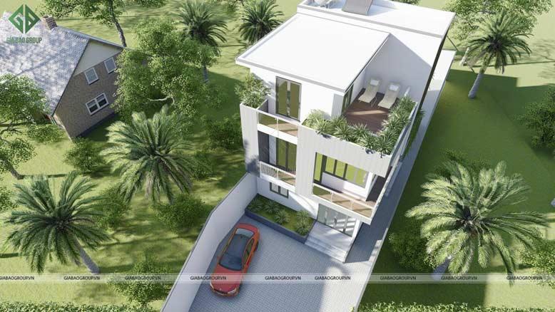Kết cấu của mẫu biệt thự 3 tầng đẹp