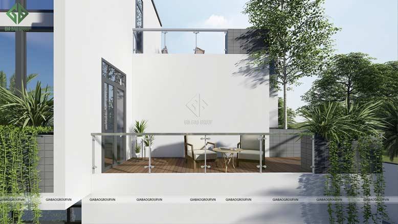 Thiết kế không gian thoáng mát và rộng rãi của mẫu biệt thự 3 tầng
