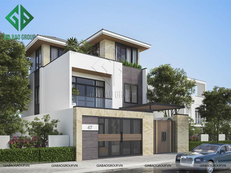 GIABAOGROUP - đơn vị chuyên thiết kế, thi công mẫu biệt thự 3 tầng hiện đại đẹp uy tín