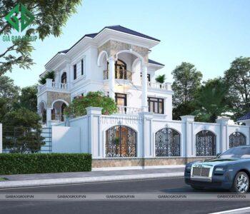 Thiết kế kiến trúc biệt thự tân cổ điển sang trọng – Mr Hùng, Tp Cần Thơ