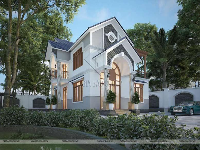 Mẫu nhà mái Thái 2 tầng 3 phòng ngủ với cách phối màu tinh tế, đem lại hiệu quả thẩm mỹ vượt bậc