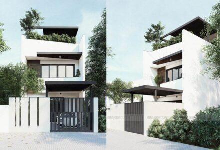 Mẫu nhà phố hiện đại 2020 – Mr. Long, Bình Dương, Mã NP126