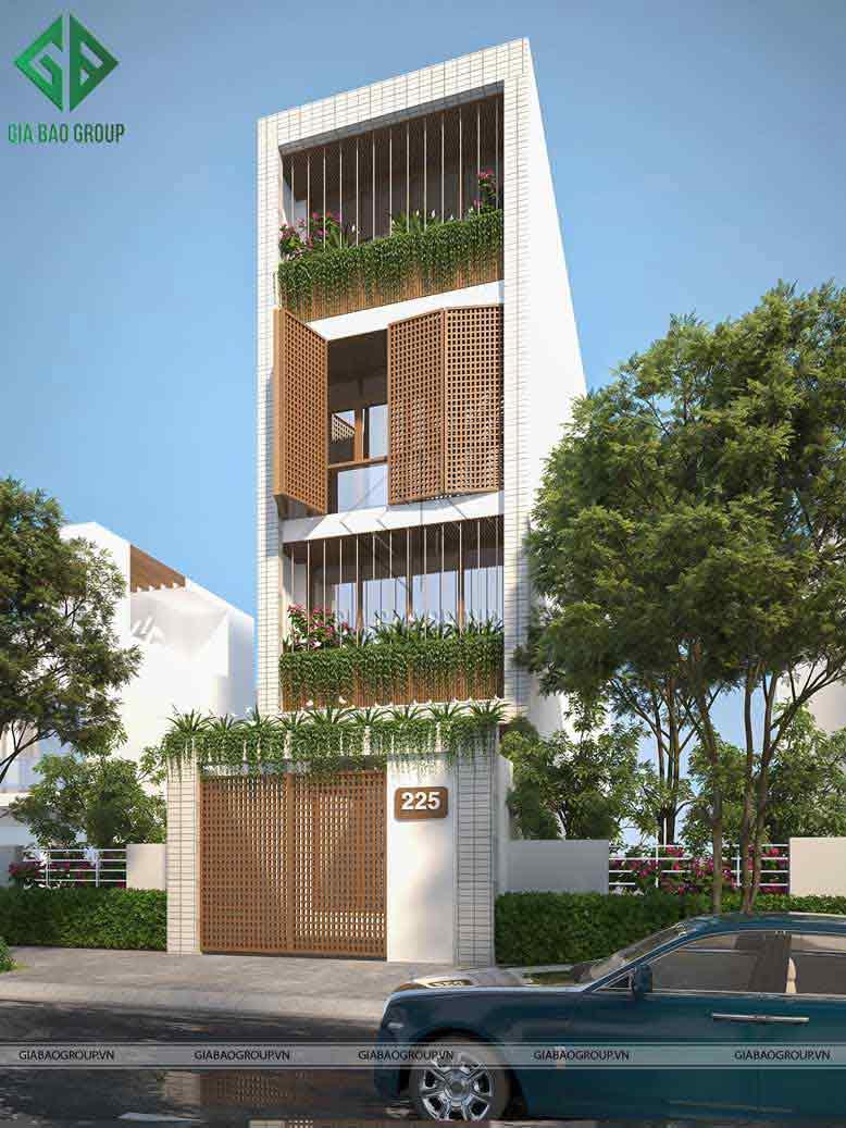Mẫu nhà phố hiện đại 4 tầng đẹp, thiết kế sang trọng, tinh tế