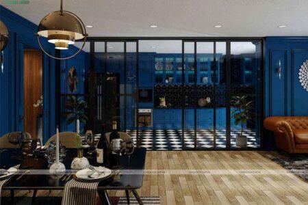 Mẫu thiết kế nội thất căn hộ tân cổ điển – chị Linh, chung cư Sunrise City , Quận 7