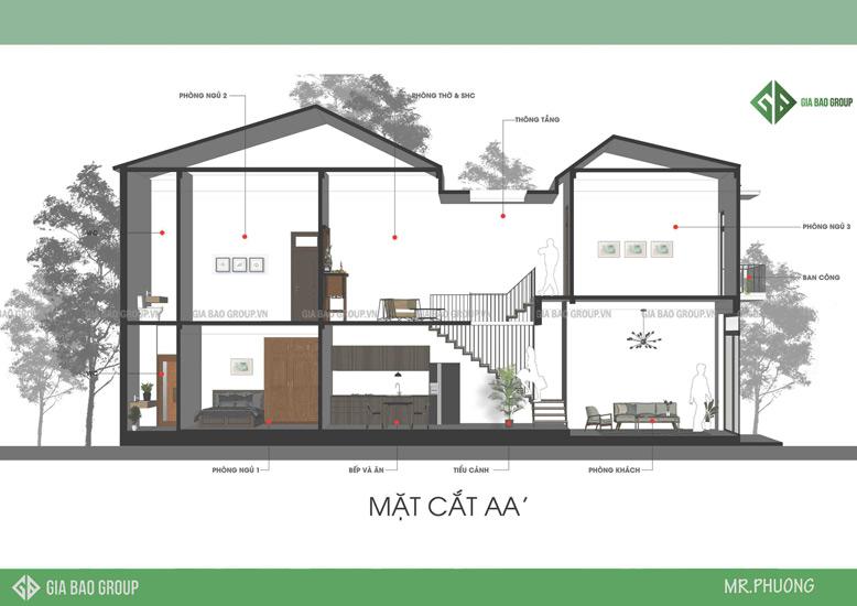 Nhà phố 1 trệt 1 lầu phong cách hiện đại – A. Phương, Đồng Nai
