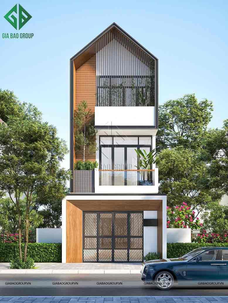 Thiết kế nhà phố 3 tầng đẹp thời thượng, không cầu kỳ rườm rà, nhưng vẫn thu hút người nhìn