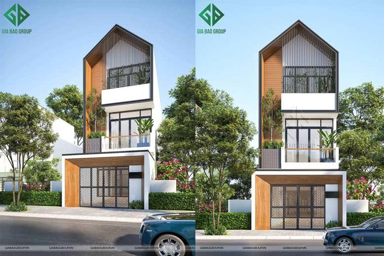 Nhà phố 3 tầng đẹp, kiểu dáng hiện đại, thanh thoát tại Đà Nẵng