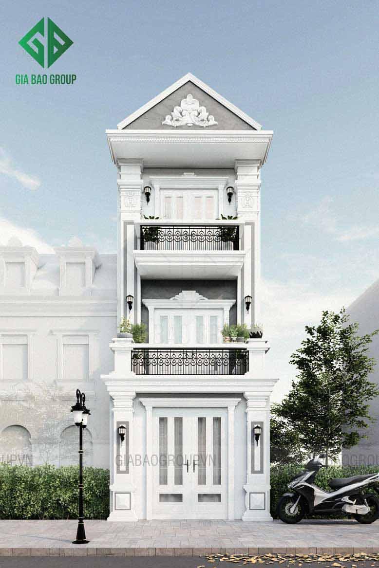 Nhà phố 3 tầng tân cổ điển hướng đến sự đơn giản, tinh tế và sang trọng