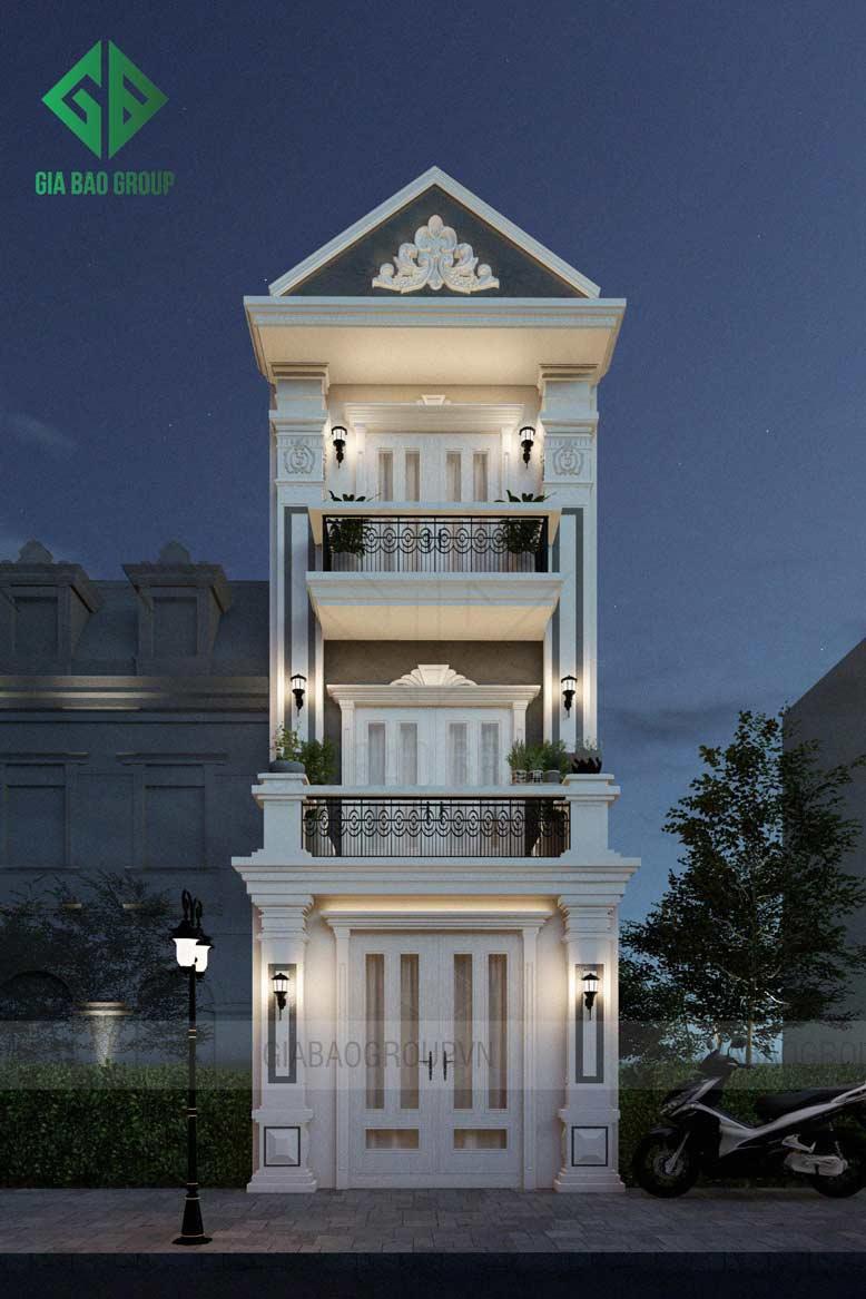 GIABAOGROUP - địa chỉ uy tín để khách hàng yên tâm đầu tư nhà phố 3 tầng tân cổ điển với chi phí phù hợp