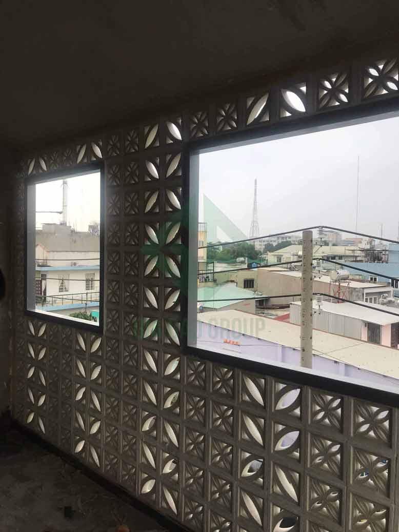 Hình ảnh thực tế dần hoàn thiện tại công trình xây dựng nhà phố 3 tầng hiện đại