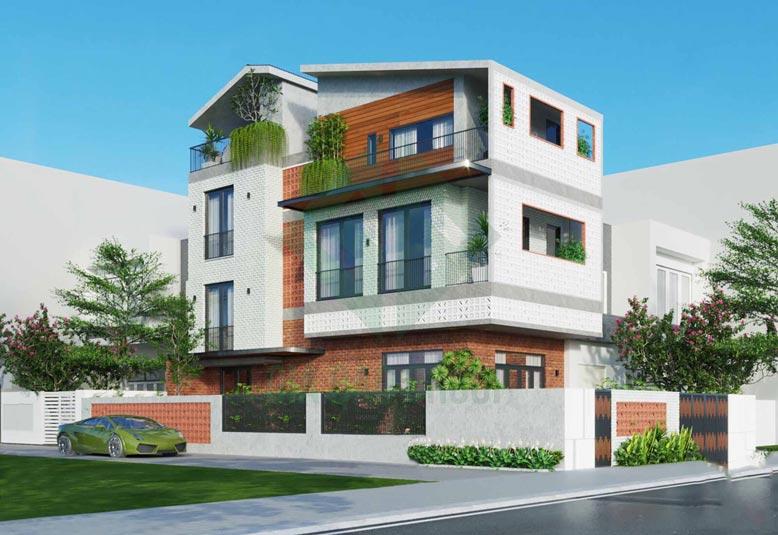 Thi công mẫu nhà phố 3 tầng hiện đại