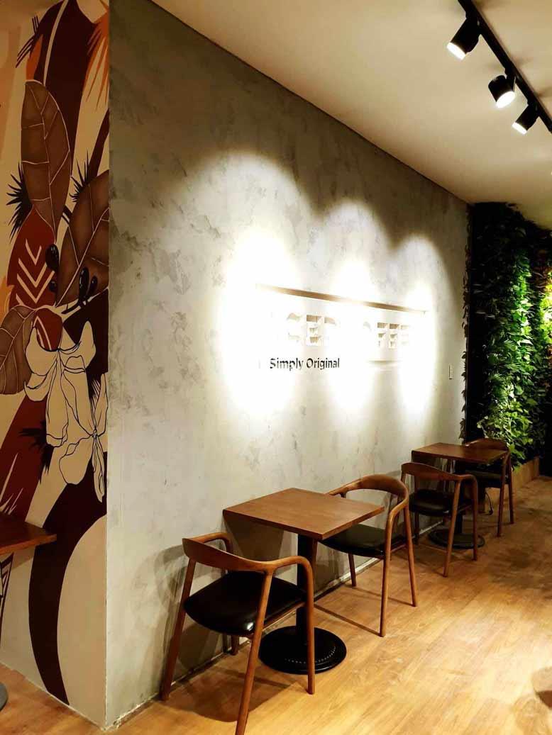 Hình ảnh thực tế của công trình thi công nội thất quán cafeIced Coffee
