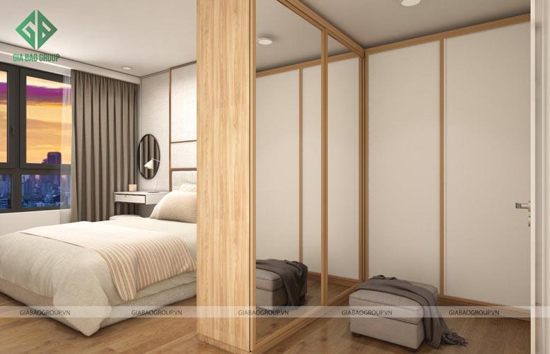 Thiết kế căn hộ 2 phòng ngủ bắt mắt tại Đảo Kim Cương