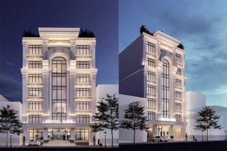 Thiết kế khách sạn tân cổ điển 8 tầng phong cách châu Âu tại Vũng Tàu