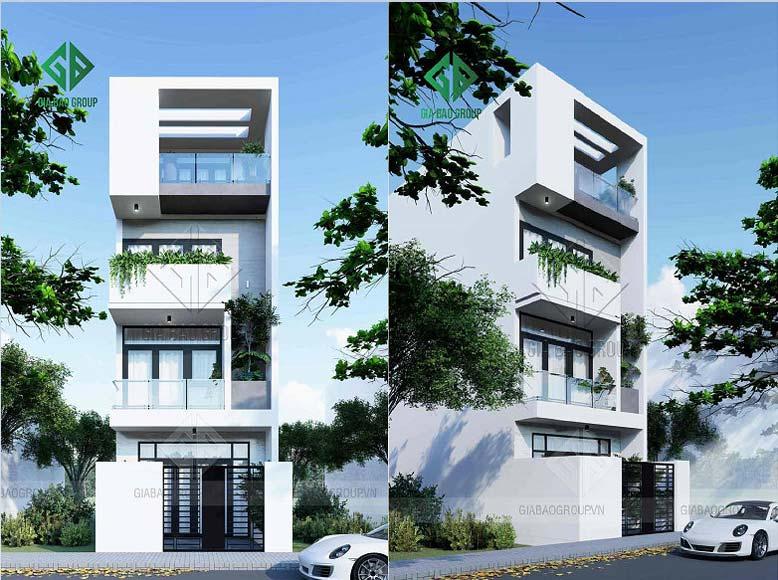 Thiết kế nhà phố 1 trệt 3 lầu đẹp tại Đồng Nai — NP19